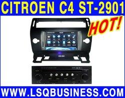 Cheap LSQ Star Car DVD Player for Citroen C4 with GPS BT Radio