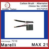 Marelli MAX 21 carbon brush for alternator(brush size 5/5.7x22x25)
