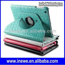 Crocodile Grain 360 Degree Rotatable Leather Case for iPad Mini