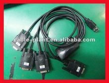 (PL2303)The best price and good quality usb to 2 rs232 cable driver