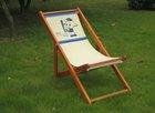 2014 hot sale Canvas Beach chair wooden chair