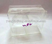 Fashion clear ziplock tpu travel cosmetic pouch
