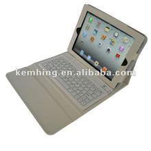 bluetooth keyboard Leather Case for iPad2/3/4, wireless keyboard case