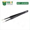 BEST-203 Professional Supplier Stainless Steel ESD Tweezers Flat Tweezers