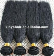 Fashion beauty Indian virgin human hair/yaki straight hair