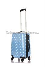 blue polka dots printing travel luggage