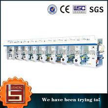 High speed roto gravure printing machine within slitting parts