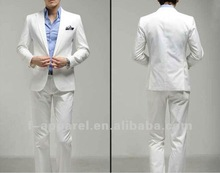 2012 latest white slim fit suits wedding suits for men