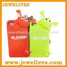 pretty crab 3d silicon animal case for iphone 5 2012 new design