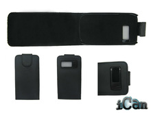 Black Leather Hard Flip Case Cover Pouch For Nokia C7 mobile phone case