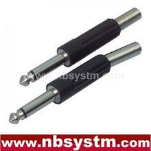 6.35mm mono plug plastic with spring