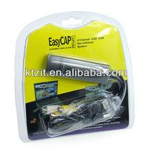 2012 WHOLESALE EASYCAP 4 CHANNEL 4 INPUT USB 2.0 DVR VIDEO CAPTURE/SURVEILLANCE DONGLE