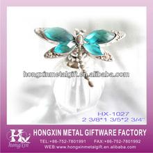 HX-1027 Handcraft Blue Dragonfly Crystal Perfume Bottle