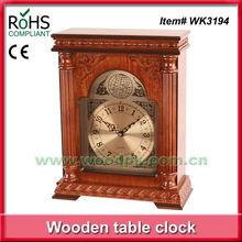 Woodpecker youngtown quartz movement clock for desktop antique brass table clock