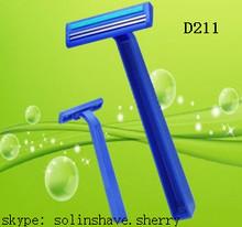 D211 twin blade disposable shaving razor ( maquinas de afeitar /Rasoir Jetable /Lames de Rasoir /Hojas de Afeitar)