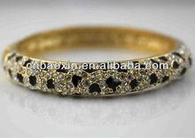 Beauty Sparkling Crystal Alloy Bracelet Gold Bangle Bracelet
