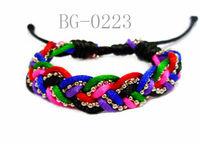 Wholesale Braided Bracelet Custom Silk Rope Braided Bracelet