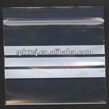 writable plastic zip lock bag