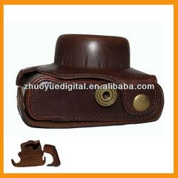 designer vintage SLR leather digital camera Case/Bag/Cover for short lens Panasonic GF2