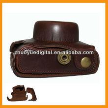 Leather case cover /vintage leather digital camera Case/Bag/Cover for short lens Panasonic GF2