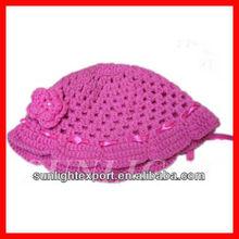 Promotion kids hand crochet hat handmade children knitted hat