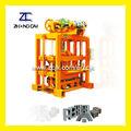 Buena calidad qtj4-40ii pequeña mano operado bloque de hormigón que hace la máquina