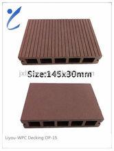 Waterproof PVC/WPC Decking & Flooring & Profiles 145*30mm