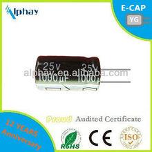 1000uF 25v 10X16 20% aluminum electrolytic capacitor