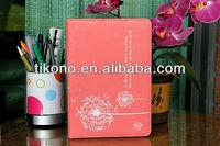 Beautiful dandelion design stand leather case for ipad mini