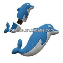 4GB Novelty Cartoon Lovely Blue Dolphin USB Flash Key Pen Drive Memory Stick Gift,free hot animal sex usb flash drive