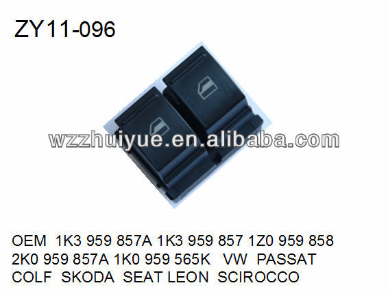 POWER WINDOW SWITCH/WINDOW LIFTER SWITCH/LIFT SWITCH OEM 1K3959857A 1K3959857 1Z0959858 2K0959857A 1K0959565K VW PASSAT COLF