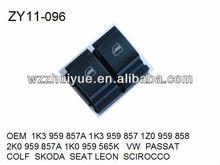 POWER WINDOW SWITCH/WINDOW LIFTER SWITCH/LIFT SWITCH OEM 1K3959857A 1K3959857 1Z0959858 2K0959857A 1K0959565K VW PASSAT COLF