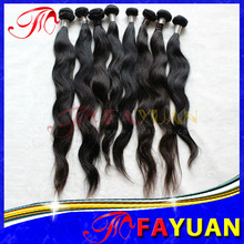 High quality wholesale pure Unprocessed virgin Remy natural color Tangle free Sensationnel human hair