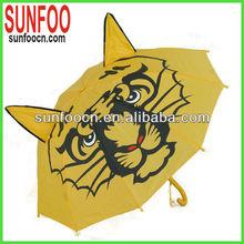Children' animal tiger umbrella