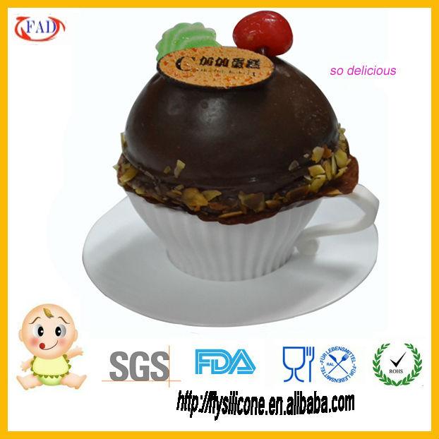 Presente Promotational Silicone Cup Cake Stand decoração acessórios em porcelana