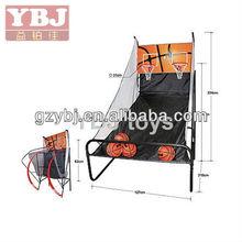 Double blue box simple folding recreational basketball machine