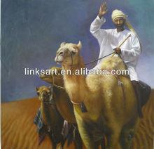 Arabic People on Camel Walking on Desert Arab Style Oil Painting Buy Directly