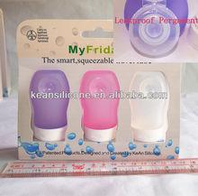 Travel bottle set/Wholesale malibu tubes cosmetic bottles jars