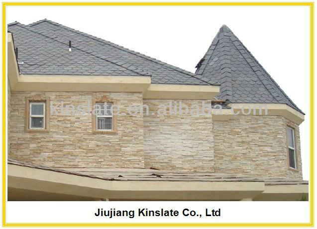 pegado de cuarcita de color beige piedra natural revestimiento de la pared