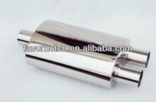 stainless steel polished exhaust muffler T304
