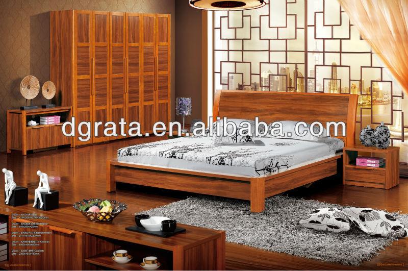 dormitorio de la familia muebles se utiliza sólido de madera y MDF de