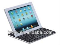 Black Ultra-thin Aluminum Magnetic Clip Bluetooth Keyboard for iPad 2 / the New iPad 3 KKB030