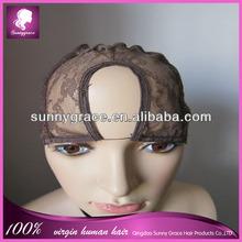Middle parting lace front u part wig cap
