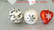 mouth blown and handpainted color glass christmas decor ornaments