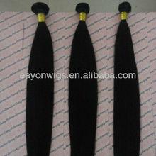 Fashion style natural black straight virgin russian hair