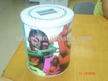 Round Packing Tin Box for Women's Clothing