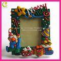 2012 venda quente de silicone/soft pvc photo frame design de moldura para presentes de natal