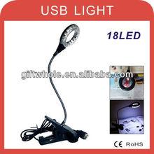 Solar clip desk lamp 18 LED gift book light