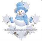 polyresin christmas ornaments snowflake snowman