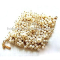 braccialetto di perle grosso braccialetto di perle con catena oro nozze gioielli braccialetto